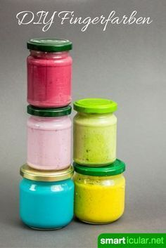 Make natural finger paints for children inexpensively