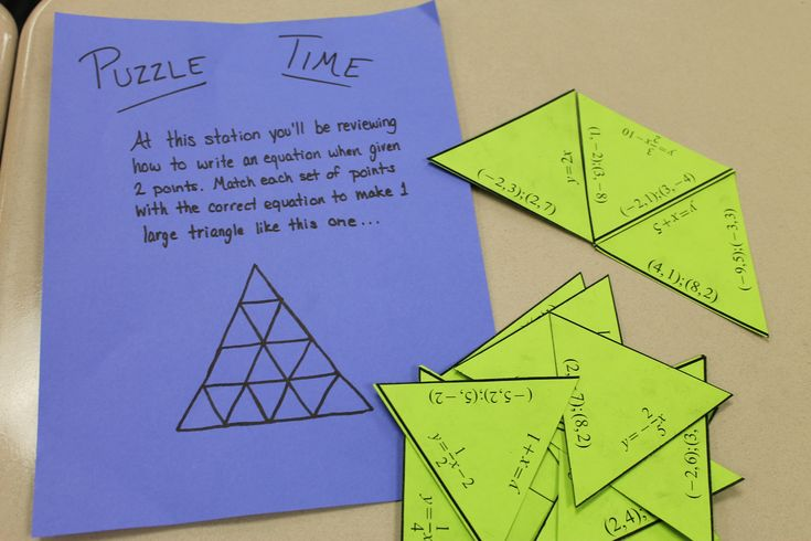 Great pre-algebra math centers (Beginning of year review for Algebra??)