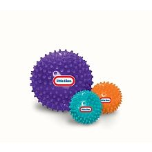Develops Sensory Skills! Fun to Squeeze Bounce & Roll ! 3 Sensory Balls for Discovery & Play!