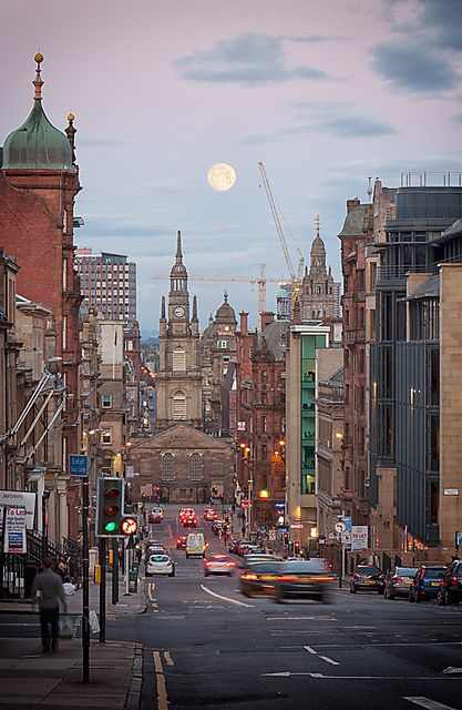 full moon over the Tron | Glasgow