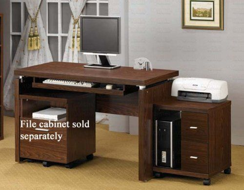 "Computer Desk with Mobile Computer Stand in Dark Oak Finish by Coaster Home Furnishings. $320.86. Home Office. Computer Desk with Mobile Computer Stand in Oak Finish. Home Office->Computer Desks and Workstations. Some assembly may be required. Please see product details.. Computer Desk: 47 1/4""W x 23 5/8""D x 30 3/4""H Computer Stand: 17 3/4""W x 17 3/4""D x 22 5/8""H Finish: Dark Oak Material: Wood Computer Desk with Mobile Computer Stand in Dark Oak Finish Desk f..."