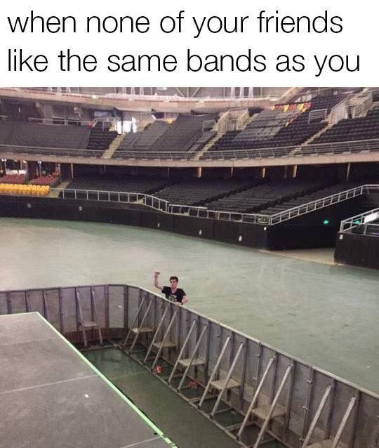 Or only like 2 friends like them and no one else does #Bts