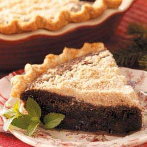 Chocolate Shoofly Pie.. hubby loves this.. i've never had it.. maybe I'll make it for him