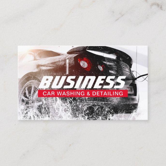 Automotive Car Wash Auto Detailing Business Card Zazzle Com Car Wash Business Car Detailing Car Wash