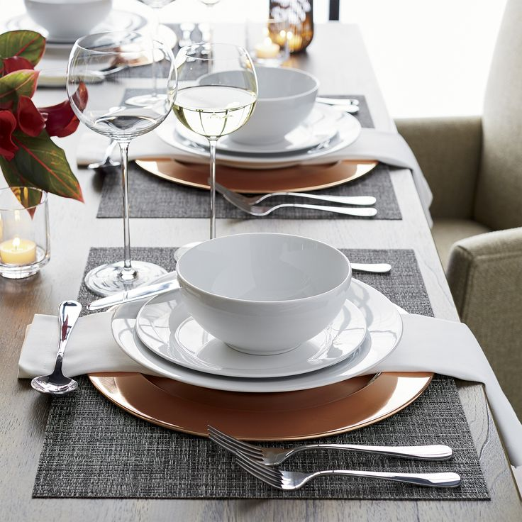 Dressing up or down with ease Aspenu0027s trim crisp lines in bright white porcelain looks & 217 best CRATE and BARREL ... Dinnerware Glassware Tableware and ...