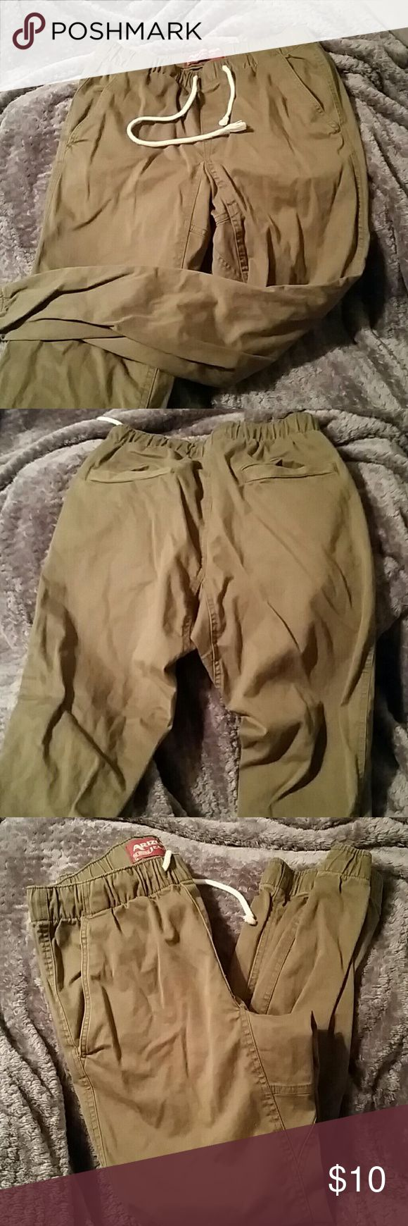 Arizona Jean Joggers AZ Joggers, Olive Green, no tears, rips or marks. Has a lot of life left in'em. 29 x 30 Arizona Jean Company Pants Sweatpants & Joggers