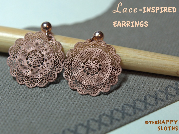 The Happy Sloths: Winners Find: Sterling Silver Lace-Inspired Earrings