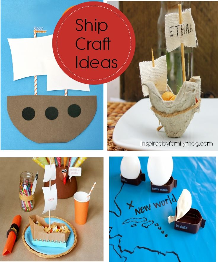 THANKSGIVING CRAFT IDEAS | Thanksgiving: Ship Craft Ideas | Inspired by FamiliaInspired by ...