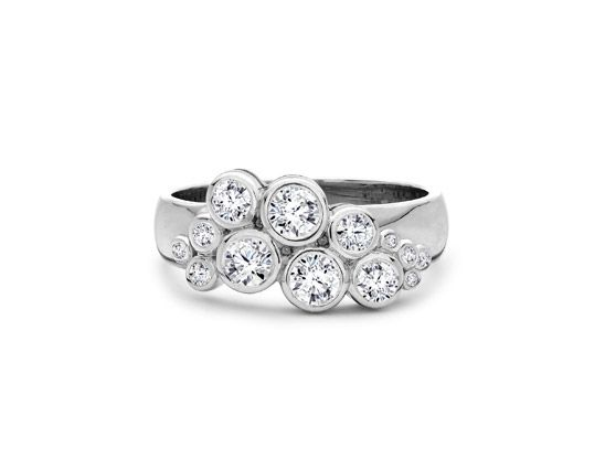 bubble design ring | view all diamond dress rings diamond scatter ring a platinum rub over ...