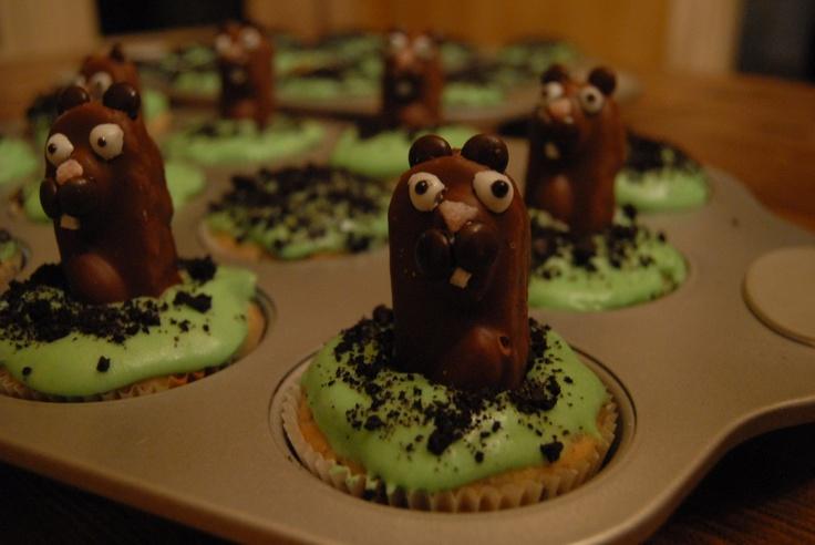 Groundhog Day Cupcakes