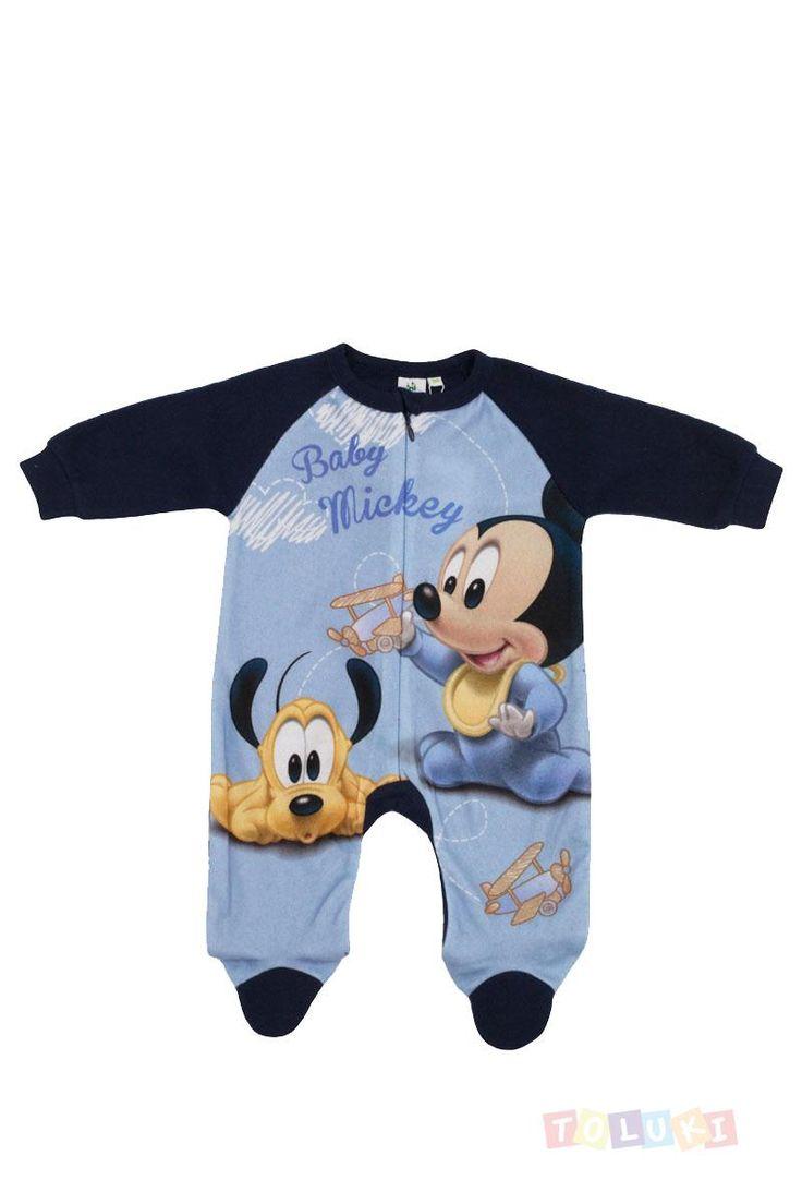 Combinaison polaire Mickey et Pluto bleu   Toluki