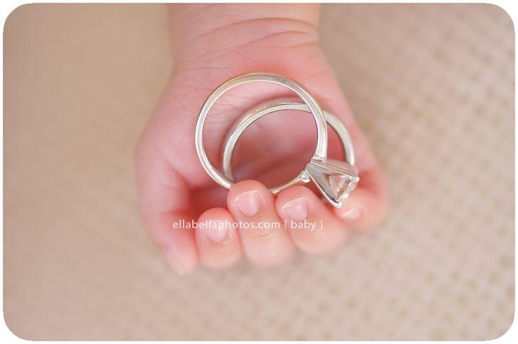 Neat take on a ring shot: Wedding Ring, Babies, Newborn Photos, Baby Photo, Photo Idea