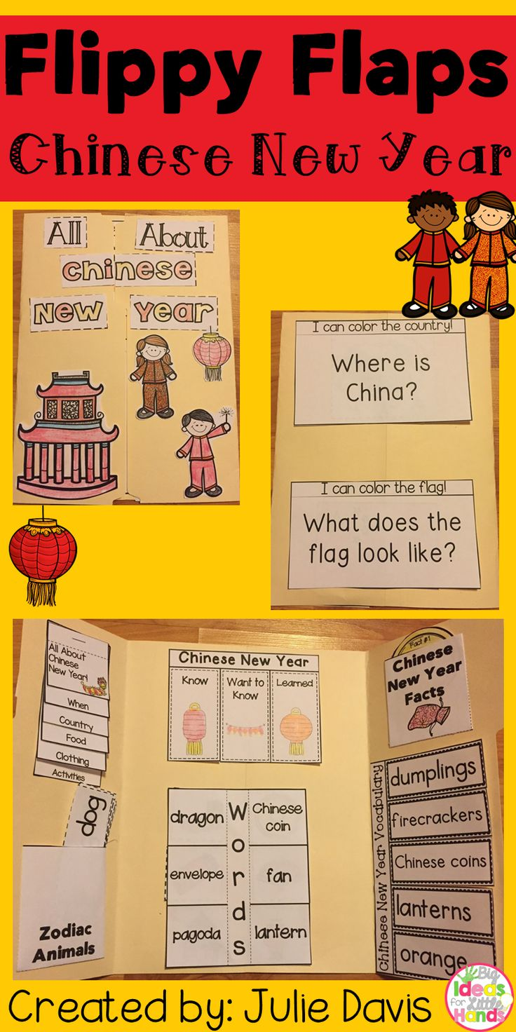 Help your students learn all about the Chinese New Year and some customs celebrated in China on this day with this fun, hands-on, interactive notebook! Your students will be engaged and learn about Chinese New Year in many different ways and will have a keepsake to bring home and share with their families!  What activities are included: ☆ All About Chinese New Year ☆ Chinese New Year Word/Picture Match ☆ Chinese New Year KWL ☆ Chinese New Year Vocabulary ☆ Chinese New Year Facts ☆ How…
