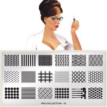 MoYou-London Nageldesign THE PRO Schablonen neue Kollektion 01: Amazon.de: Parfümerie & Kosmetik