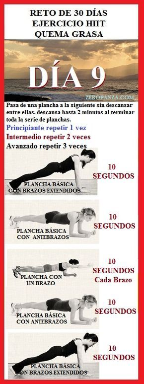 reto de 30 dias de ejercicio hiit dia 9