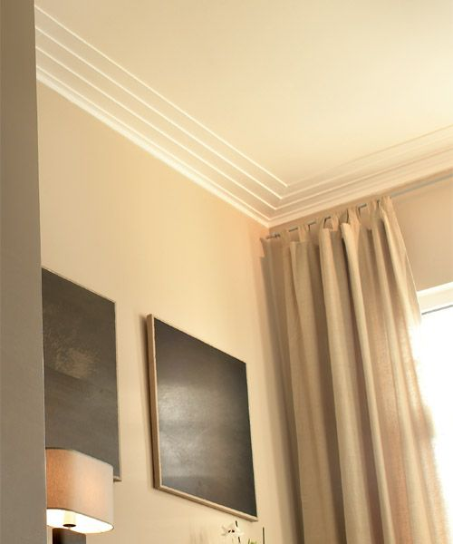 Crown Molding   Art Deco style New York crown molding. Moulding Detail  Good for a basement it visually raises to height