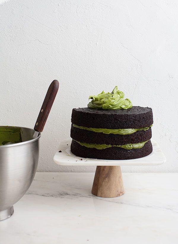 Triple Layer Chocolate Matcha Cake
