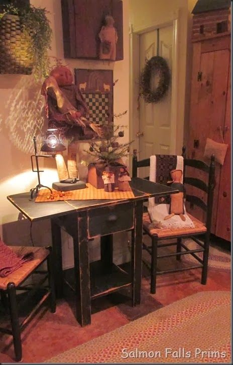 prim perfect... love this table and chair setting