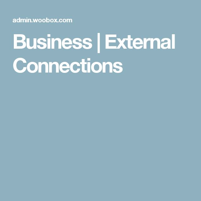 Business | External Connections