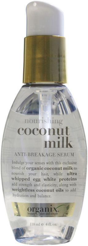 Review: Organix Coconut Milk Serum  http://beautymakeuplife.wordpress.com/2012/10/04/review-organix-coconut-milk-serum-siero-capelli-al-latte-di-cocco/
