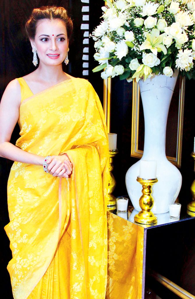 Dia Mirza at the opening of a jewellery store in Mumbai. #Bollywood #Fashion #Style #Beauty