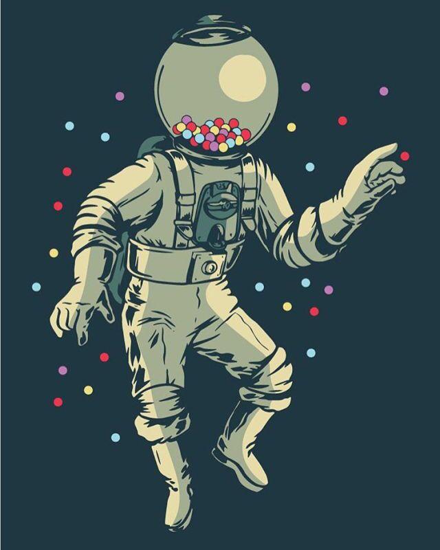 break dancing astronaut drawing - 640×800