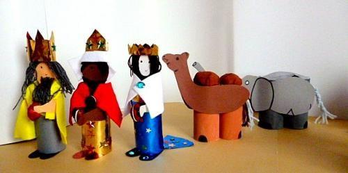 Weihnachtskrippen/basteln-Heilige-Drei-Könige-Kamel-Elefant