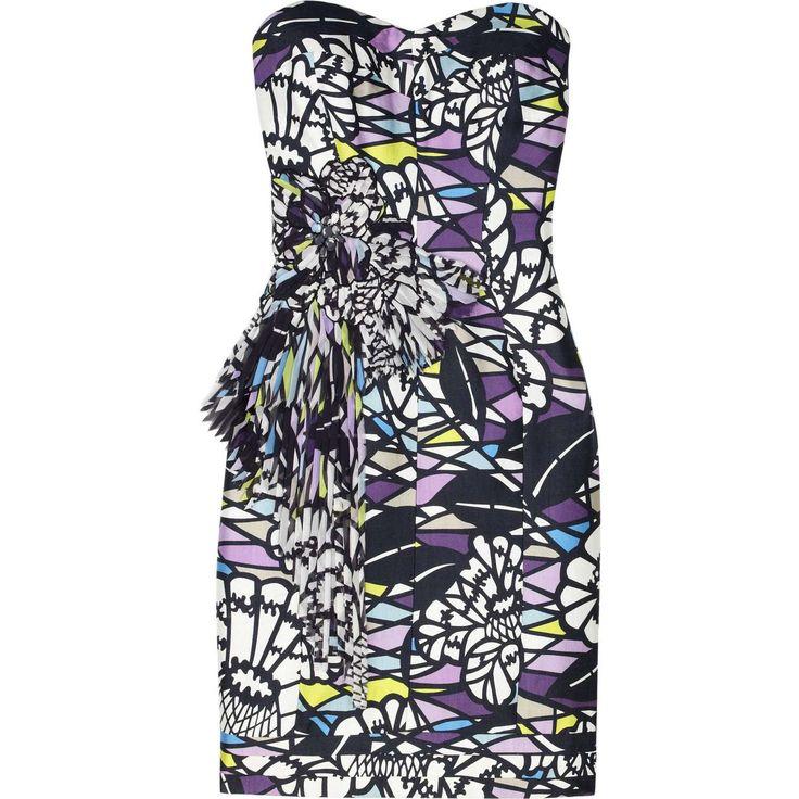 Matthew Williamson Corseted mosaic-print dress - Photo