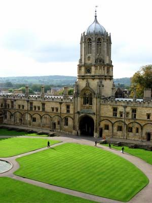 12th century Christ Church Cathedral, Oxford, UK