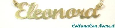 Collana Con nome in argento Placcato Oro 18kt a € 35,00!