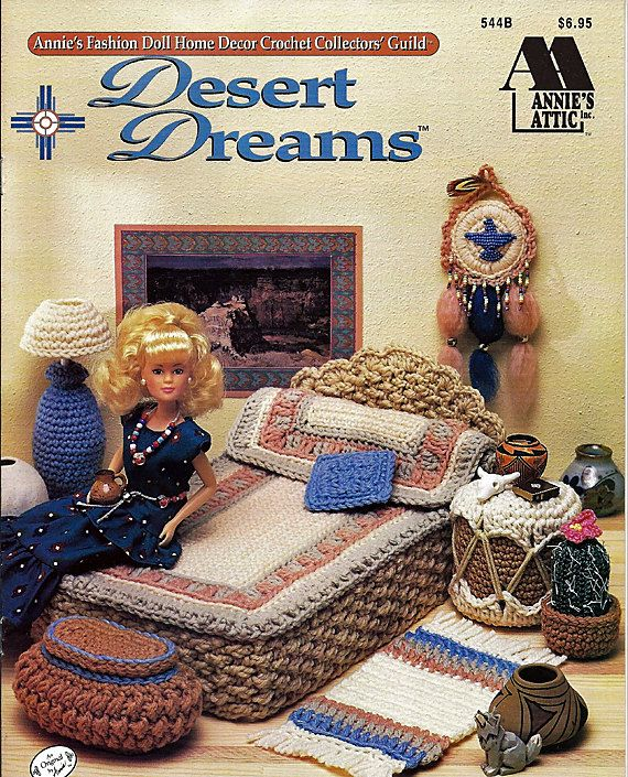 Barbie Furniture, Desert Dreams, Annies Attic Crochet Furniture Pattern. $9.00, via Etsy.