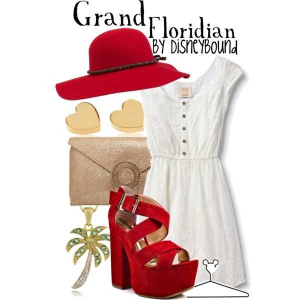 Grand Floridian love the shoes and dress, created by lalakay on Polyvore: Inspiration Outfits, Disney Outfits, Disney Resorts, Disney World, Disney Clothing, Disneybound Outfits, Disney Bound, Disneybound Grand Floridian, Disney Fashion