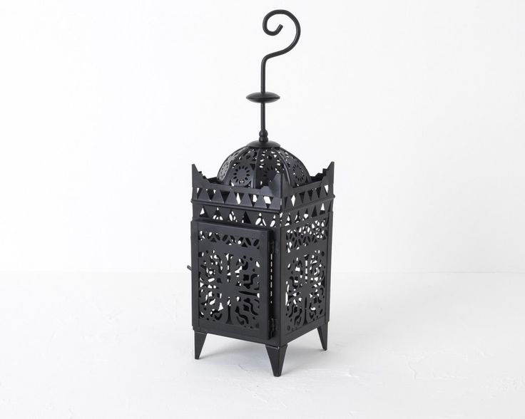 Maroc Lantern Small, Black in Lighting, Candle Holders and Tealights £25.00 | India May Home, Luxury Homeware
