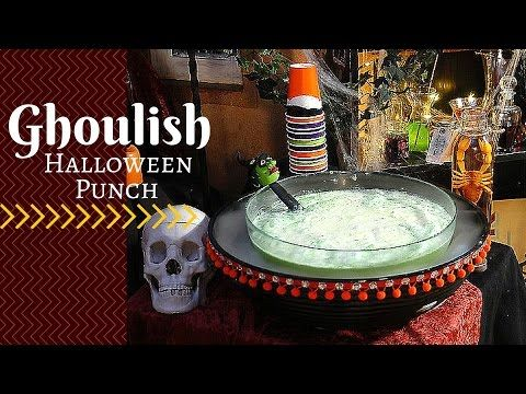 How to Make a Ghoulish Halloween Punch for Kids - YouTube