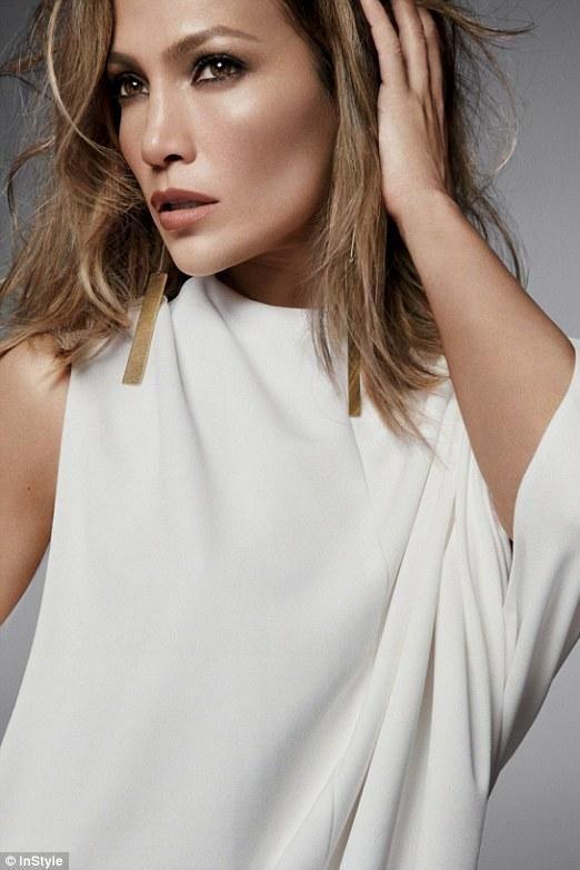 Jennifer Lopez wearing Narciso Rodriguez Spring 2016