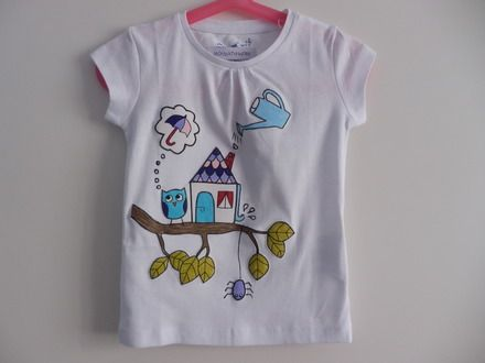 su ALittleMarket: T-shirt da bambina, in puro cotone - taglia 4 anni