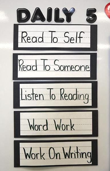 INSTRUCTION: The Daily 5 activities - particularly read to self, read to someone, and listen to reading - are opportunities for students to develop their reading fluency and expression, either though exposure or practice.