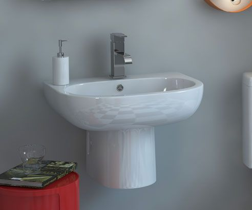 Metro Curve Wall Hung Basin - MY-338060 scene square medium