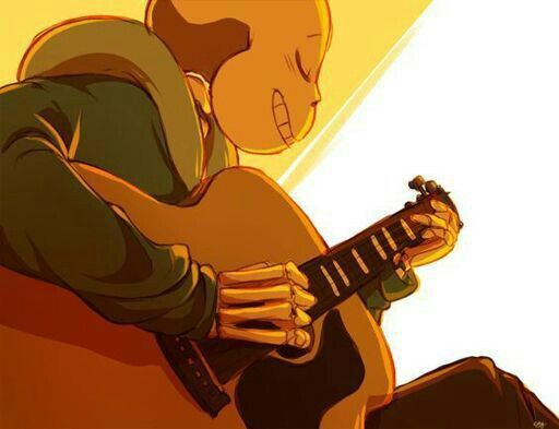 Sans - playing the guitar