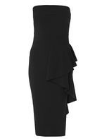 Womens *Quiz Black Crepe Bardot Midi Dress- Black