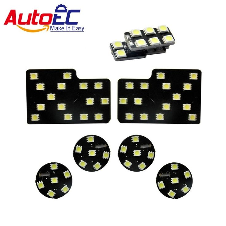 23.14$  Watch now - http://ali62i.shopchina.info/go.php?t=32276969089 - AutoEC 7pcs/set 12V LED Dome Interior Dome Map Reading Light Mirror LED Lights Kit Package For Audi A4 A5 #LDK43 23.14$ #SHOPPING