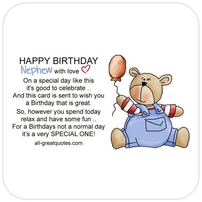 Free Birthday Cards For Nephew Happy Card