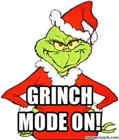 i hate christmas meme | Grinch Smile Meme
