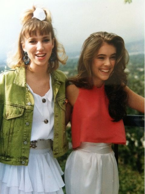 """Debbie Gibson and Alyssa Milano-I loved Debbie Gibson..I had her cassette! And I grew up watching """"Whose the Boss"""""""