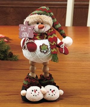 Snowman - using a ball of string as a body