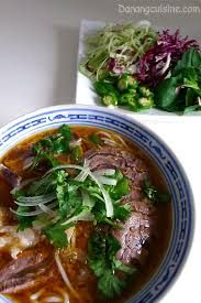 Bun Bo Hue is also another beef soup though it originated in the mid-regions of Vietnam (hence the name Hue). Instead of star anise and cloves, this soup contains lemongrass, spring onion, beef shank and is served with rice vermicelli.