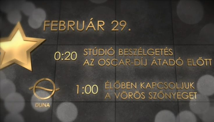 Oscar – 2016 Live stream (Élő közvetítés)- magyar nyelven, Duna TV-n. 2016 február 28-án.