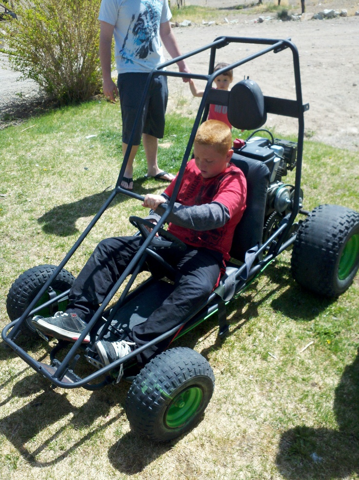 First Time In His New Go Kart Grandbabies Go Kart