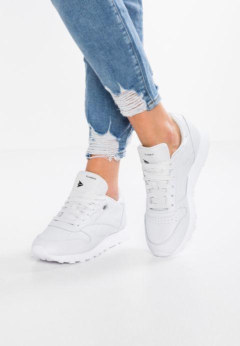 7ae9e1e7ea3f4 Reebok Classic CL LTHR X FACE - Sneaker low - porcelain white black -