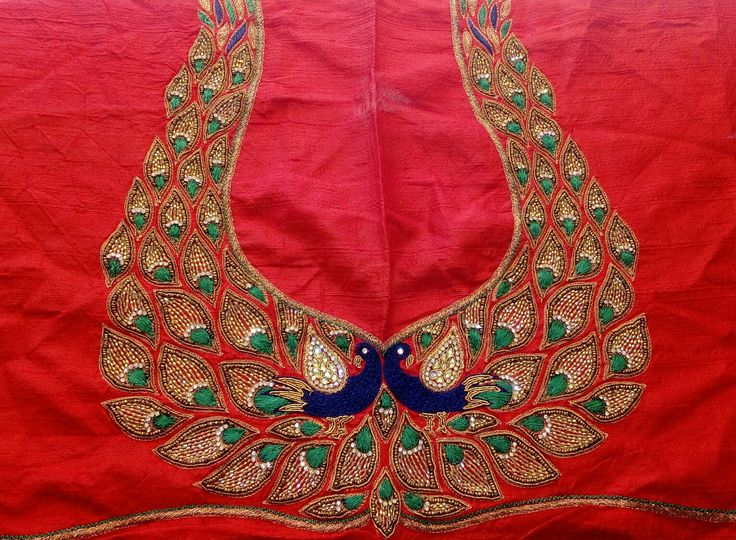 72 Best Peacock Blouses Images On Pinterest Embroidery Blouse